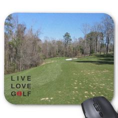 Live love golf mouse pad.