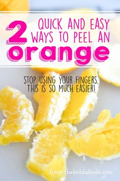 How to peel an orange without peeling it! Here are 2 quick and easy ways to peel an orange. Candy Recipes, Holiday Recipes, Candied Orange Peel, 5 Ingredient Recipes, Fruit Dishes, Easy Peel, Food Hacks, Food Tips, Peeling An Orange