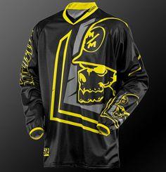 metal mulisha scout blk jersey black/yellow
