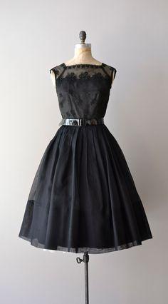 1950s chiffon cocktail dress