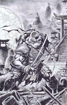 The Cyber Wolf ! — Ninja Turtles - Fan Art Created by Emil. Ninja Turtle Drawing, Ninja Turtles Art, Teenage Mutant Ninja Turtles, Ninja Turtle Tattoos, Leonardo Tmnt, Dope Cartoon Art, Fan Art, Gi Joe, Tmnt 2012