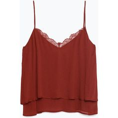 Zara Camisole Top ($40) ❤ liked on Polyvore featuring tops, tank tops, wine, red cami, zara tank top, camisole tops, wine tops and cami top