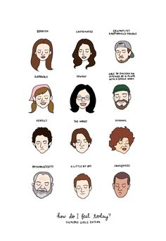 Moods of Gilmore Girls characters Art Print by Tyler Feder. Worldwide shipping available at Society6.com. Just one of millions of high quality products available.