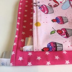 Cupcakes Fairies & Stars burp cloth bundle Love cupcakes