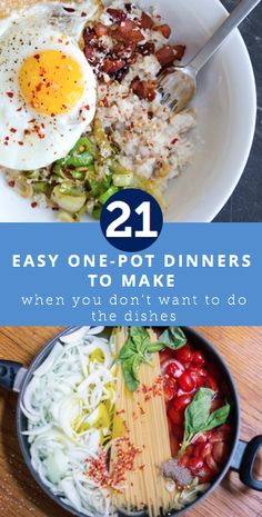 21 easy one-pot dinners to make when you don't want to do dishes.