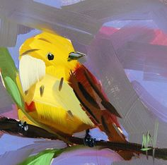 """Daily Paintworks - """"Yellowhammer Alabama State Bird Painting"""" - Original Fine Art for Sale - © Angela Moulton Animal Paintings, Animal Drawings, Bird Artists, State Birds, Abstract Canvas Art, Painting Inspiration, Pet Birds, Cute Art, New Art"""