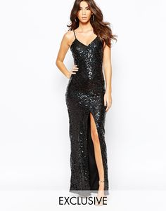 Image 1 of NaaNaa All Over Sequin Dress With Cross Back