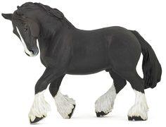 Papo Black Shire Horse www.minizoo.com.au