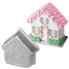 Need a second one to make thicker houses...this is pretty thin and doesnt stand up too well but its cute--so,  Stand-Up House Pan $16.99