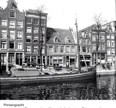 1940. Prinsengracht in Amsterdam. The Prinsengracht runs parallel to the Keizersgracht. The canal is one of the four main canals of Amsterdam. The construction was started in 1612 at the initiative of Mayor French Hendricksz after a design by Hendrick Staets. The part of the canal between the Leidsegracht and the river Amstel was constructed as part of the 1658 city expansion. Later the part east of the river Amstel was built and named Nieuwe Prinsengracht. #amsterdam #1940 #prinsengracht