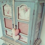#shabby #pastel #cupboard  1 repin  sewalittlelove.blogspot.co.uk