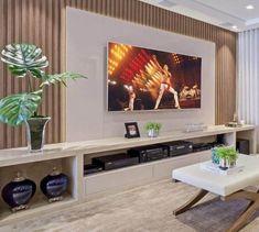 Tv Unit Decor, Tv Wall Decor, Home Living Room, Living Room Decor, Modern Tv Room, Living Room Tv Unit Designs, Home Tv, Home Room Design, Apartment Interior