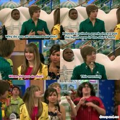 Disney Channel The Suite Life On Deck. Zack Martin, Bailey Pickett, Cody Martin, Woody Fink, London Tipton and Marcus Little. Pranking the ship's horn. Oh zack..