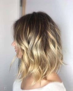 Sun Kissed Balayage Lob Hairstyle