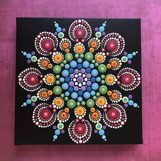 Original acrylic mandala painting. Painting is on 8 x 8 canvas which is signed, dated, and comes to you with a bluebird of happiness. It is my hope that each painting created with love and joy will bring the same to you...Namaste