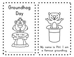 GROUNDHOG DAY PACKET (Reader, sight word page, domino math page, science brace map, shadow pictures for class graph!) $