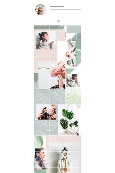 Instagram Grid, Instagram Ideas, Instagram Posts, Grid App, Ig Feed Ideas, Mind Blowing Images, Little App, Instagram Background, Grid Layouts