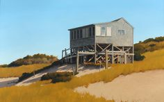 Jim Holland (1955 - Present), American Artist - Dune Shack Afternoon - 30 x 48