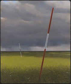Kimmo Kaivanto, Väylä, 1973. Öljy kankaalle 162x 140 cm.Jussi Koivunen / Sara Hildénin taidemuseo