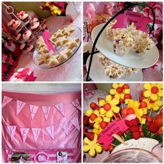 Pinkalicious party ideas...love the fruit flowers! COULD DO STAR FRUIT STUCK IN WATERMELON