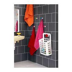 IKEA - LOSJÖN, Ripustin, , Helpot kiinnittää seinään. Voidaan kiinnittää joko kaksipuolisella teipillä tai ruuveilla.