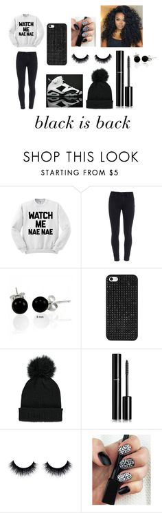 """""""black is back baby"""" by najiyahbrown on Polyvore featuring Paige Denim, NIKE, Bling Jewelry, BaubleBar, Forever 21 and Chanel"""