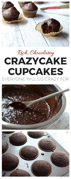 Is store-bought cake too sweet? This frugal, depression-era crazycake cupcake recipe not only makes a moist, dense, decadent chocolate cake, it's naturally vegan and allergy friendly too!
