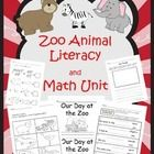 """Zoo Animal Literacy and Math Unit  This 41 page literacy and math unit has a lot to offer.  It begins with a story, """"Our Day at the Zoo."""" The story..."""