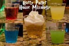 Two Broke Women Doing Random Shit: Drinks: Harry Potter House Mixology. For the Potterhead in all the drunks! (Gryffindor, Ravenclaw, Hufflepuff, Slytherin, Butterbeer)