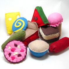 Felt Food Toys for A Very Hungry Caterpillar by bugbitesplayfood