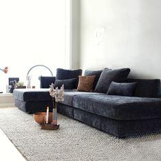 Hvile module sofa from ygg Velour Sofa, Sofas, Modul Sofa, Interior Decorating, Interior Design, Living Room Kitchen, Cribs, Relax, Cushions