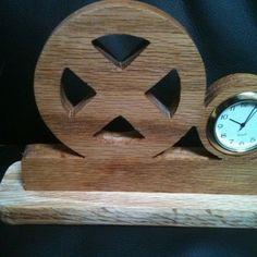 Wooden handmade Xmen Desk clock by Fine Crafts on Opensky