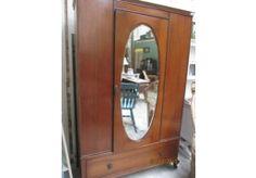 vintage mirror wardrobe Mirrored Wardrobe, Wardrobes, Vintage, Furniture, Home Decor, Wardrobe With Mirror, Closets, Vintage Comics, Interior Design