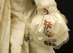 Detail of Spitalfields sack-back gown and matching petticoat, c.1760, from the Vintage Textile archives.