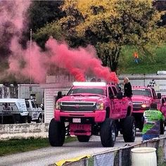 Pink coal. I don't like Chevy I'm a ford lover but that is pretty cool.