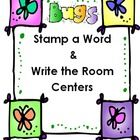 Two literacy centers with insect vocabulary words to stamp and write.....