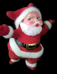 Retro Santa Vintage ChristmasTree Ornament by Blakenetizen on Etsy, $5.00 I had one of these.