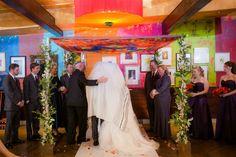 Chicago Chic Modern Jewish Wedding//tallit wrap