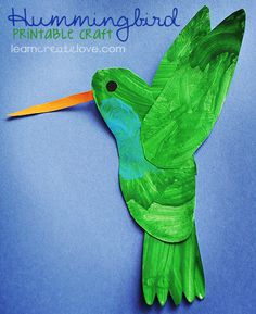 { Printable Hummingbird Craft }