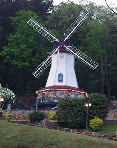 Windmill in Helen, Georgia right by Charlegmane's Kingdom Railroad Museum