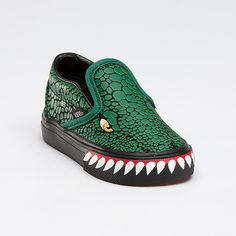 Vans T-Rex slip-on. DINOSAUR SHOES. These are ridiculously cute.