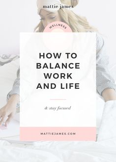 Whether you're a 9 to 5er, freelancer, or entrepreneur, learn how to find balance and get more sleep.