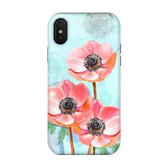 iPhone Xs / X Cases Triple Flower by Creativeaxle