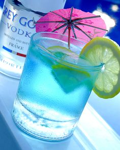 Loose Goose Juice (1 part Grey Goose  1 part Mountain Blast Powerade  1 part Sprite  Shake all ingredients with ice and strain into a glass filled with ice  Garnish with a Lemon slice)