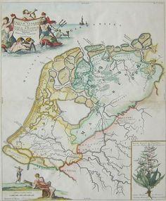 Online veilinghuis Catawiki: Nederland, Holland, Friesland Bernard Schotanus à Sterringa / H. en F. Netherlands Map, Fantasy Map, Old Maps, Historical Maps, Old Photos, Holland, Vintage World Maps, Antiques, Prints