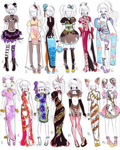 -CLOSED-Chinese dress designs by Guppie-Adopts on deviantART