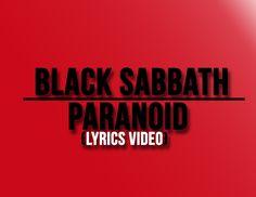 Black Sabbath - Paranoid (Lyrics Video)