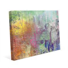 "Click Wall Art Concrete Valley Malachite Dye Painting Print on Wrapped Canvas Size: 24"" H x 36"" W x 1.5"" D"