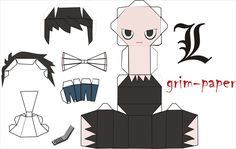 L ryuzaki lawliet pattern by Grim-paper.deviantart.com on @deviantART