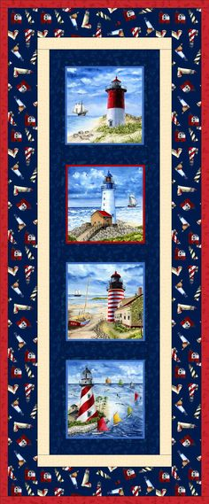 Lighthouse free quilt pattern table runner